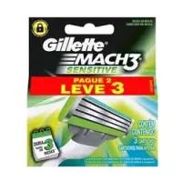 2 Unidades Carga Gillette Mach 3 Sensitive L3p2