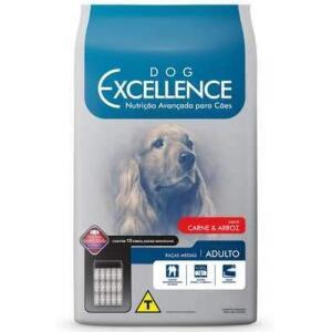 Racao Dog Excellence Adulto Racas Media Carne 15kg