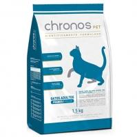Ração Chronos Pet Gatos Super Premium Adultos Castrados Sabor Frango 1,5kg Chronos
