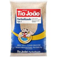 05 Unidades Arroz Tio João Parbolizado Tipo 1 Pacote 1kg