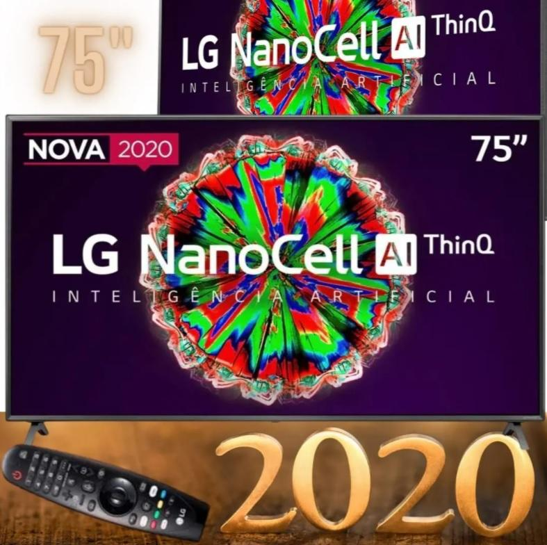 Smart TV LED 75″ UHD 4K LG 75NANO79 NanoCell, Bluetooth, HDR, Inteligência Artificial ThinQ AI, Google Assistente, Alexa IOT, Smart Magic – 2020