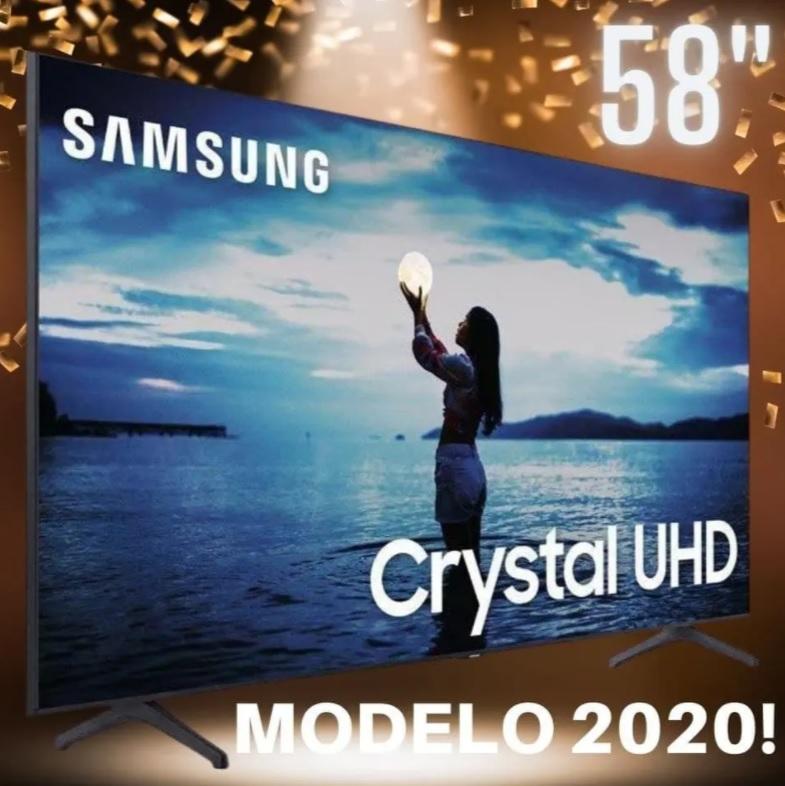 Smart TV LED 58″ UHD 4K Samsung 58TU7020 Crystal UHD, HDR, Design Sem Limites, Controle Remoto Único, Canaleta Visual Livre de Cabos, Bluetooth – 2020