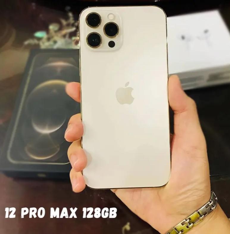 "iPhone 12 Pro Max Apple 128GB Dourado 6,7"" – Câm. Tripla 12MP iOS"