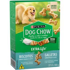 2 Unidades Biscoitos para Cães Filhotes Nestlé Purina Dog Chow Frango e Leite 300g