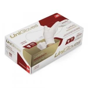 Luva Premium Quality Unigloves Sem Pó PP 100 Unidades