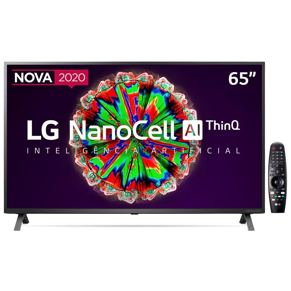 Smart TV LED 65″ UHD 4K LG 65NANO79 NanoCell, Bluetooth, HDR, Inteligência Artificial ThinQ AI, Google Assistente, Alexa IOT, Smart Magic – 2020