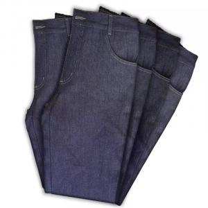 Calça Jeans de Trabalho de Meio Cós e Meio Elástico