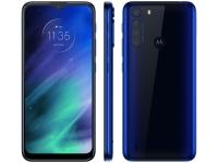 "Smartphone Motorola One Fusion 64GB Azul Safira – 4G 4GB RAM Tela 6,5"" Câm. Quádrupla + Selfie 8MP"