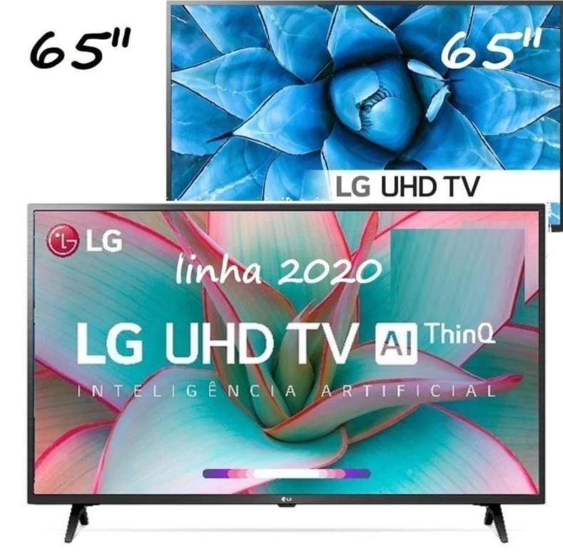 "Smart TV 4K LED IPS 65"" LG 65UN7310PSC / 65UN7310 Wi-Fi – Bluetooth HDR Inteligência Artificial 3 HDMI 2 USB"
