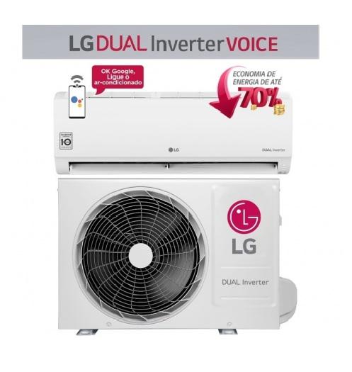 Ar-condicionado Split LG 9.000 BTUs Quente/Frio – Dual Inverter Voice S4-W09WA51A