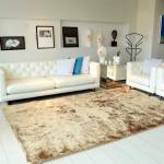 Tapete Felpudo Para Quarto e Sala Colima Peludo Bege 100cmX150cm – Casa Dona – Magazine