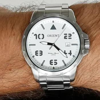 Relógio Analógico Orient Masculino – Mbss1195a S2sx Prateado