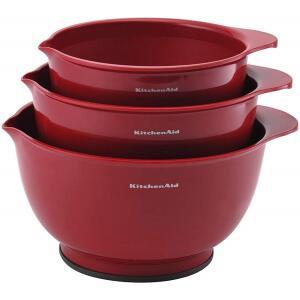 Conjunto Bolws para Preparação 3 Peças Kitchenaid Vermelho