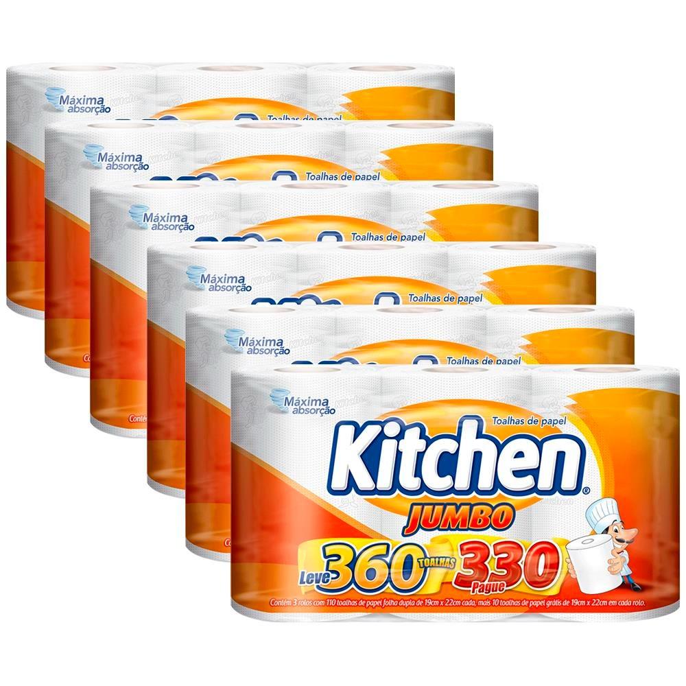 Toalhas de Papel Kitchen Jumbo – 18 unidades