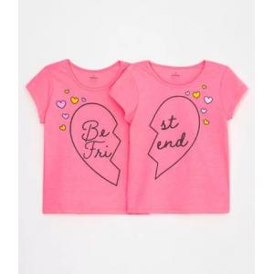 Kit 2 Blusas Infantis Estampa Best Friend