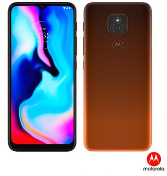 Smartphone Moto E7 Plus Bronze Âmbar, com Tela de 6,5″, 4G, 64GB e Câmera de 48MP* + 2MP – XT2081-1