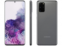 "Smartphone Samsung Galaxy S20+ 128GB Cosmic Gray – 8GB RAM Tela 6,7"" Câm. Quádrupla + Selfie 10MP – Magazine"