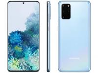 "Smartphone Samsung Galaxy S20+ 128GB Cloud Blue – 8GB RAM Tela 6,7"" Câm. Quádrupla + Selfie 10MP – Magazine"
