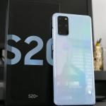 "Smartphone Samsung Galaxy S20+ 128GB Cloud Blue – 8GB RAM Tela 6,7"" Câm. Quádrupla + Selfie 10MP"