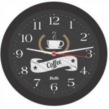 Relogio de Parede Redondo Coffee Preto, Bell´s, Multicor, 21.7 cm