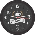 Relogio de Parede Redondo, Coffee, 21.7 cm, Preto, Bell´s