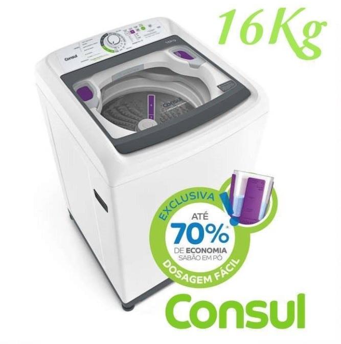 Máquina de Lavar Consul 16kg Dosagem Extra Econômica e Ciclo Edredom – CWL16AB