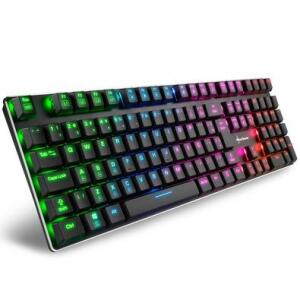 Teclado Mecânico Gamer Sharkoon PureWriter RGB Switch Kailh Red ABNT2