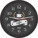 Relogio de Parede Redondo – Coffee – 21.7cm – Preto – Bell´s
