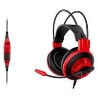 Headset Gamer MSI Preto e Vermelho - DS501