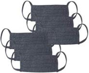 Kit 6 Peças Máscaras de Proteção em Algodão – Mash – Cinza Escuro – Único