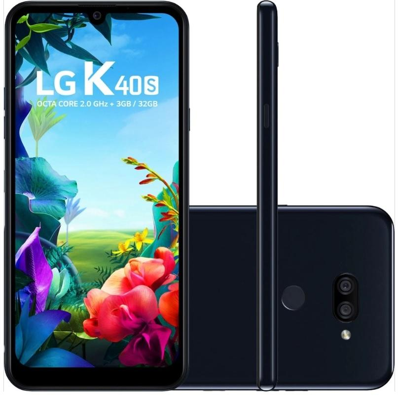 Smartphone LG K40s 32GB Dual Chip Android 9 Tela 6.1″ Octa Core 2.0GHz 4G Câmera 13+5MP