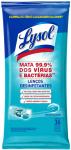 Lenços Desinfetantes Lysol – Frescor Marítimo 36 unidades, Lysol, Azul, pacote de 36