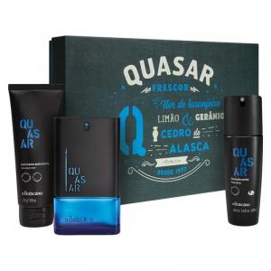 Kit Presente Quasar: Desodorante Colônia 100ml + Gel Após Barba 110g + Body Spray 100ml