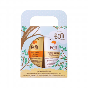 Kit Presente Boti Baby Primeiros Vôos: Sabonete Líquido 65ml + Loção Banho e Pós-Banho 65ml