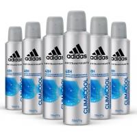 Kit Desodorante Aerossol Adidas Climacool Masculino com 6 Unidades