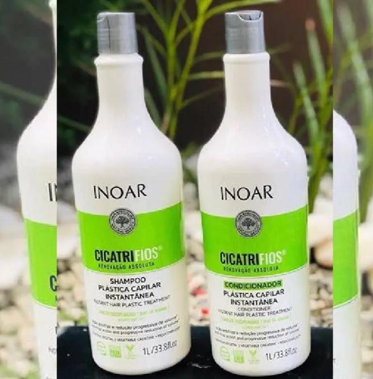 Inoar Kit shampoo e condicionador CicatriFios Plástica Capilar 1L, Inoar