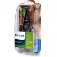 Aparador de Pelos Philips Bodygroom Series 1000 BG105/11 À Prova D'água Sem Fio Preto/Vermelho