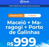 Pacote Maceió + Maragogi + Porto de Galinhas – 2022 Aéreo + Hospedagem (9 Diárias)