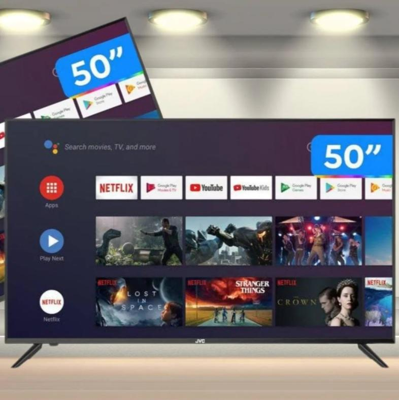 "Smart TV 4K DLED 50"" JVC LT-50MB508 Android – Wi-Fi Bluetooth HDR 4 HDMI 3 USB"