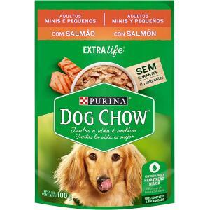 15 Unidades - Ração Úmida Nestlé Purina Dog Chow para Cães Adultos Raças Pequenas Salmão ao Molho 100g