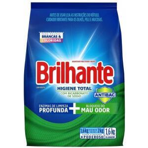 Lava Roupas Desinfetante em Pó Brilhante Higiene Total Combate germe e bactérias 1.6kg