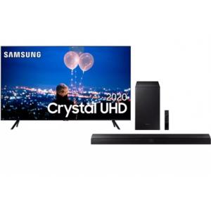 Samsung Smart TV 65'' Crystal UHD 65TU8000 4K + Soundbar Samsung Hw-t555 2.1 Canais Subwoofer Wireless Bluetooth HDMI - 320w