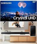 "Samsung Smart TV 65"" Crystal UHD 65TU8000 4K + Soundbar Samsung Hw-t555"