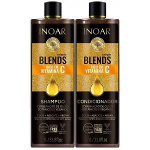 Kit Shampoo e Condicionador Blends Vitamina C 1L - INOAR