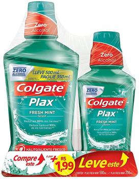 Enxaguante Bucal Colgate Plax Fresh Mint 500ml – Colgate Plax IceFusion 250ml