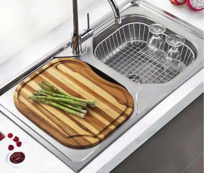 Cuba Dupla de Sobrepor para Cozinha Franke – Inox Retangular 86x51cm Onda Dupla