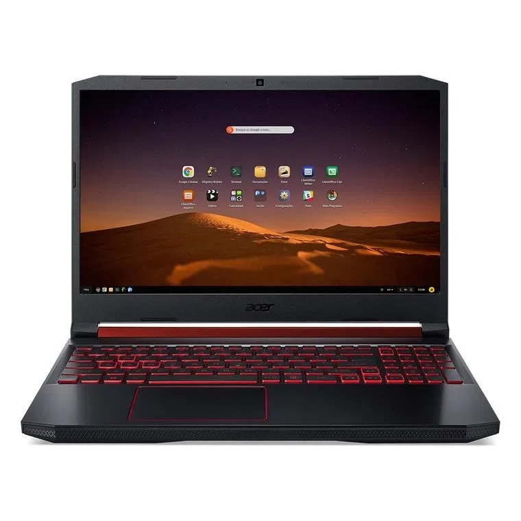 Notebook Gamer Acer Nitro 5 AN515-54-76XC Intel Core i7 16GB 1TB HD 256GB SSD GTX 1650 15.6′ Endless