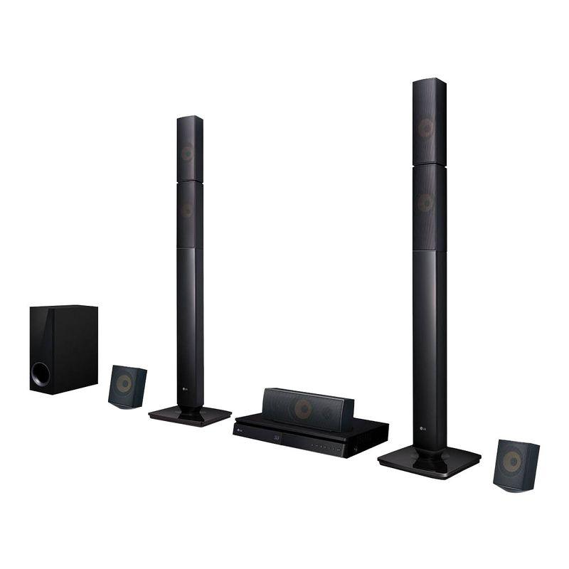 Home Theater LG LHB645N Full HD com Blu-Ray 3D Bluetooth 5.1 Canais, Sound Sync Wireless 1000W