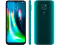 "Smartphone Motorola Moto G9 Play 64GB Verde – Turquesa 4GB RAM 6,5"" Câm. Tripla + Selfie 8MP – Magazine"