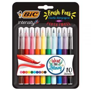 Caneta Pincel Brush Pen 10 Cores Intensity Bic - 970926